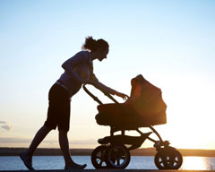 survive first week with baby by getting out for walks
