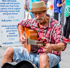 busker in the market