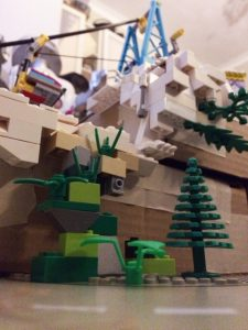 Our lego mountain inspired by Lego House