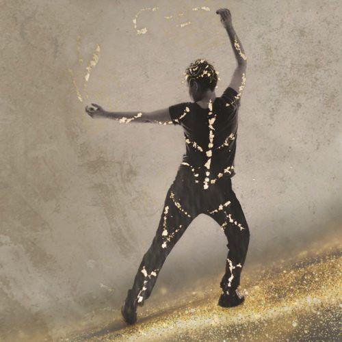 woman dancing, mixed media photograph.